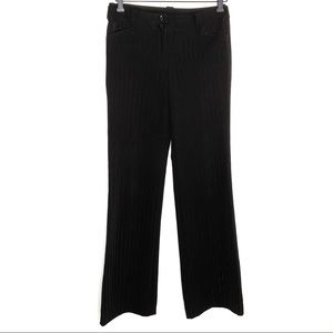 Tracy Evans black pinstripe career pants
